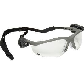 3M™ Light Vision™ 2 LED Protective Eyewear, Clear Anti-Fog Lens, Gray Frame