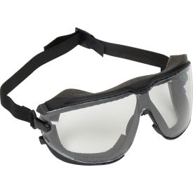 3M™ Gogglegear™ Safety Goggle With Strap, Clear Lens, Black Frame