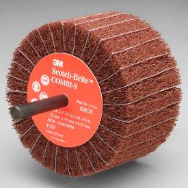 """3M™ Scotch-Brite™ Combi-S Wheel 80678 3"""" x 1-3/4"""" x 1/4"""" Shank P120 Grit Aluminum Oxide - Pkg Qty 10"""