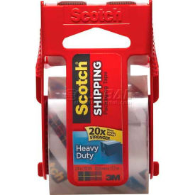 "Scotch® Heavy Duty Shipping Packaging Tape w/ Dispenser, 2"" x 800"", 1 Roll"