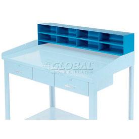 """8 Pigeon Hole Riser for 48""""W Shop Desk - Blue"""