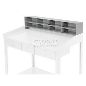 "8 Pigeon Hole Riser for 48""W Shop Desk - Gray"