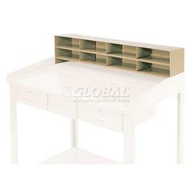 "8 Pigeon Hole Riser for 48""W Shop Desk - Putty"