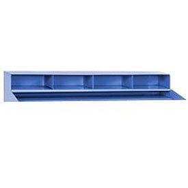 """4 Pigeon Hole Riser for 48""""W Shop Desk- Blue"""