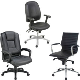 Interion™ - 8-Way Adjustable Highback Leather Chair