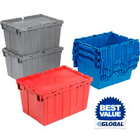 Global Premium Attached Lid Distribution Containers
