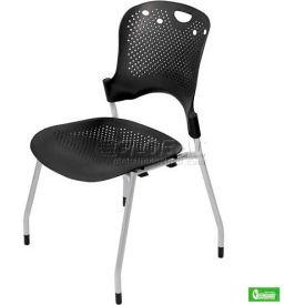 Circulation Stacking Chair - Black (Priced 4 per Carton)