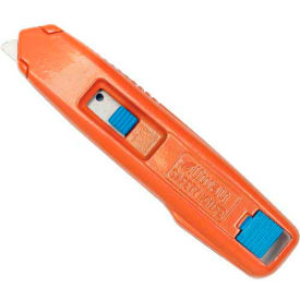 Self-Retracting Aluminum Safety Box Cutter With 6 Blades - Pkg Qty 12