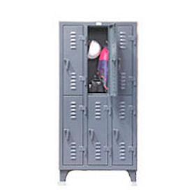 Strong Hold® Heavy Duty Slim-Line Locker 36-18-2TSL - Double Tier 38x18x78 6 Door