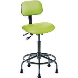 "BioFit Operator Chair - Multifunctional Control- Height 25 - 32"" - Black Vinyl - Black Powder Coat"
