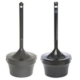 Outdoor Steel Cigarette Urns – Optional Message Holder
