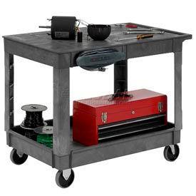 Plastic Flat Shelf Service & Utility Carts