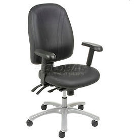 Interion™ - 8-Way Adjustable Leather Ergonomic Chair