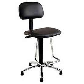 Interion™ - Vinyl Production Stool With U-Shaped Footrest