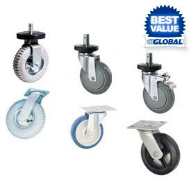 Stem Casters, Plate Casters & Dolly Bases