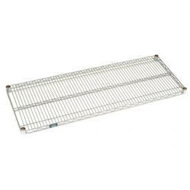 Chrome Wire & Solid Galvanized Shelves