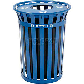 Global™ Outdoor Steel Recycling Receptacles