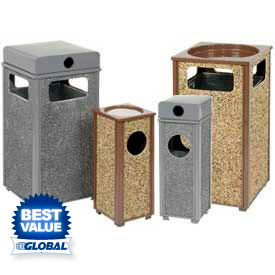 Stone Panel Ash Trash Receptacles