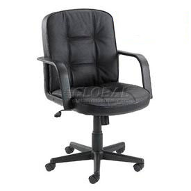Interion™ - Classic Leather Mid-Back Chair