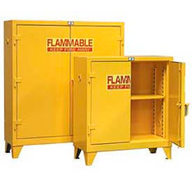 Strong Hold® Heavy Duty Flammable Cabinet with Manual-Close Doors 60 Gallon