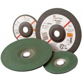 "3M™ Green Corps™ Grinding Wheel 66589 4-1/2""x 1/8""x 7/8"" T27 Ceramic Grain 36 Grit - Pkg Qty 40"