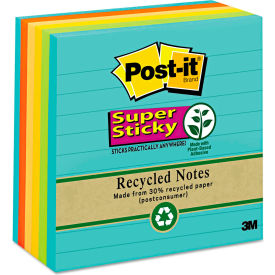 """Post-it® Super Sticky Notes 6756SSNRP, 4"""" x 4"""", Farmers Market, 90-Sheets, 6/Pack"""