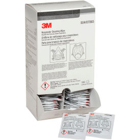 3M™ Respirator Cleaning Wipes, 504, Box of 100