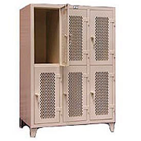 Stronghold 2-Tier Ventilated Personal Locker 54-1/2 x 34 x 78