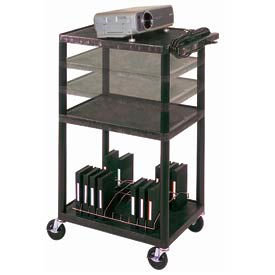 Luxor Multi-Height Plastic Audio Visual Cart