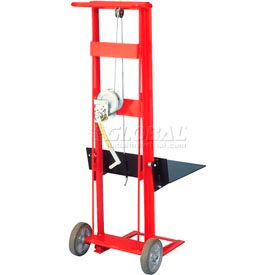 Wesco® Winch Operated Platform Lift Truck 260017 2 Wheel Style 750 Lb. Cap.