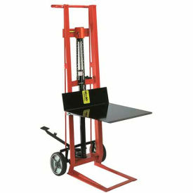 Wesco® Foot Pedal Platform Lift Truck 260002 Two Wheel Style