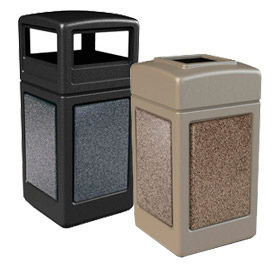 Stone Panel Waste Receptacles