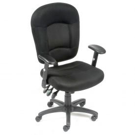 Multifunction Breathable Mesh Fabric Task Chair - Black