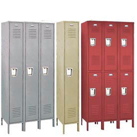 Penco 68113R028KD Vanguard Locker Recessed Double Tier 12x12x30 6 Door Ready To Assembled Gray