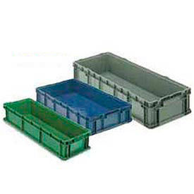 Plastic Long Stacking Box 48 X 15 X 10-3/4 Green
