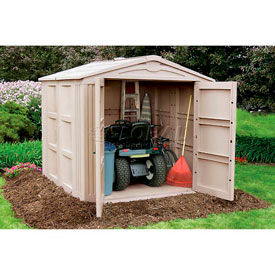 Riding lawn mower storage shed for Garden shed for lawn mower