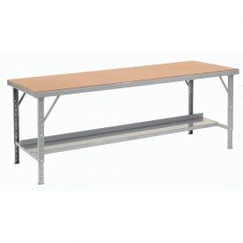 "84"" W x 34"" D Heavy-Duty Extra Long Hardboard Folding Assembly Workbench - Gray"