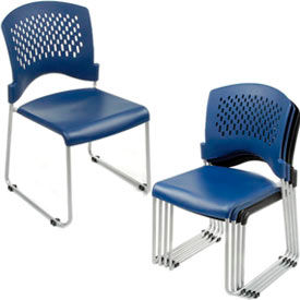 Interion™ - Ventilated Plastic Stackable Chair