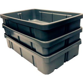 Dandux Conveyor Tote 50P2919152 - 28 x 18-3/4  x 15 Gray