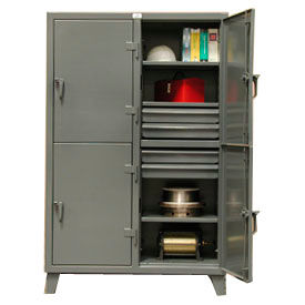 Strong Hold® All Welded Extra Heavy Duty Locker With Drawers