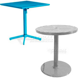 Perforated Pedestal Tables & Chairs