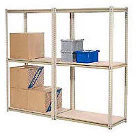 8'H High Capacity (Z-Beam) Boltless Metal Rack With Wood Deck