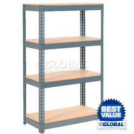 6' High Boltless Steel Shelving With Wood Deck
