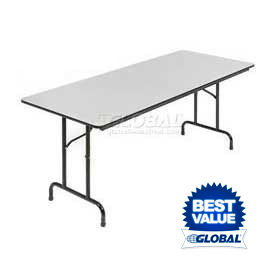Interion™ - 6' Folding Table with Gray Melamine Top