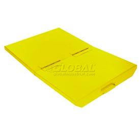 Lid for 1/4 Cu Yd Wright Yellow Self-Dumping Hopper