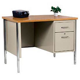 Global - Single Pedestal Steel Desks