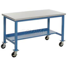 Mobile Heavy Duty Production Bench - Blue