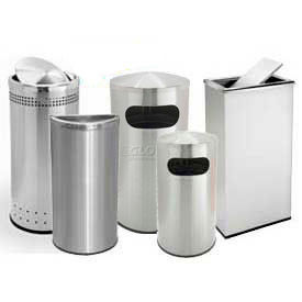 Stainless Steel Waste Receptacles
