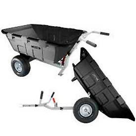 Lifetime® Yard Cart Heavy Duty Wheelbarrow & Lawn Tractor Trailer