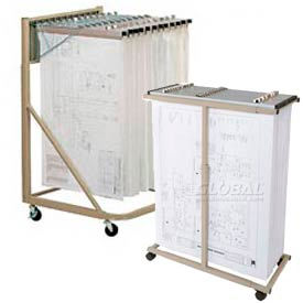 Vertical Blueprint Storage Rack